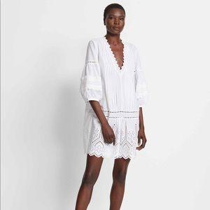 Club Monaco Dress Torynt White Cotton Eyelet 8